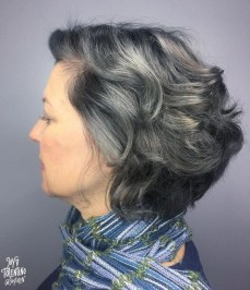 Pretty Grey Hairstyle Ideas For Women02