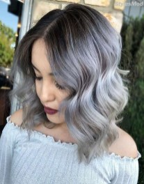 Pretty Grey Hairstyle Ideas For Women30