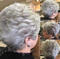 Pretty Grey Hairstyle Ideas For Women37