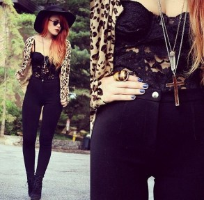 Pretty Winter Outfits Ideas High Waisted Pants14