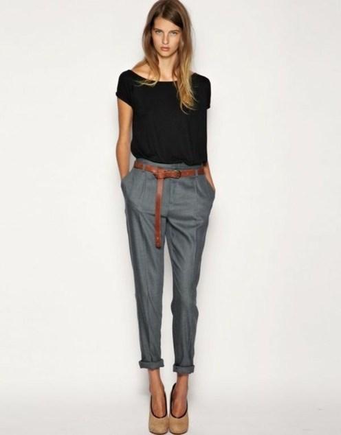 Pretty Winter Outfits Ideas High Waisted Pants38