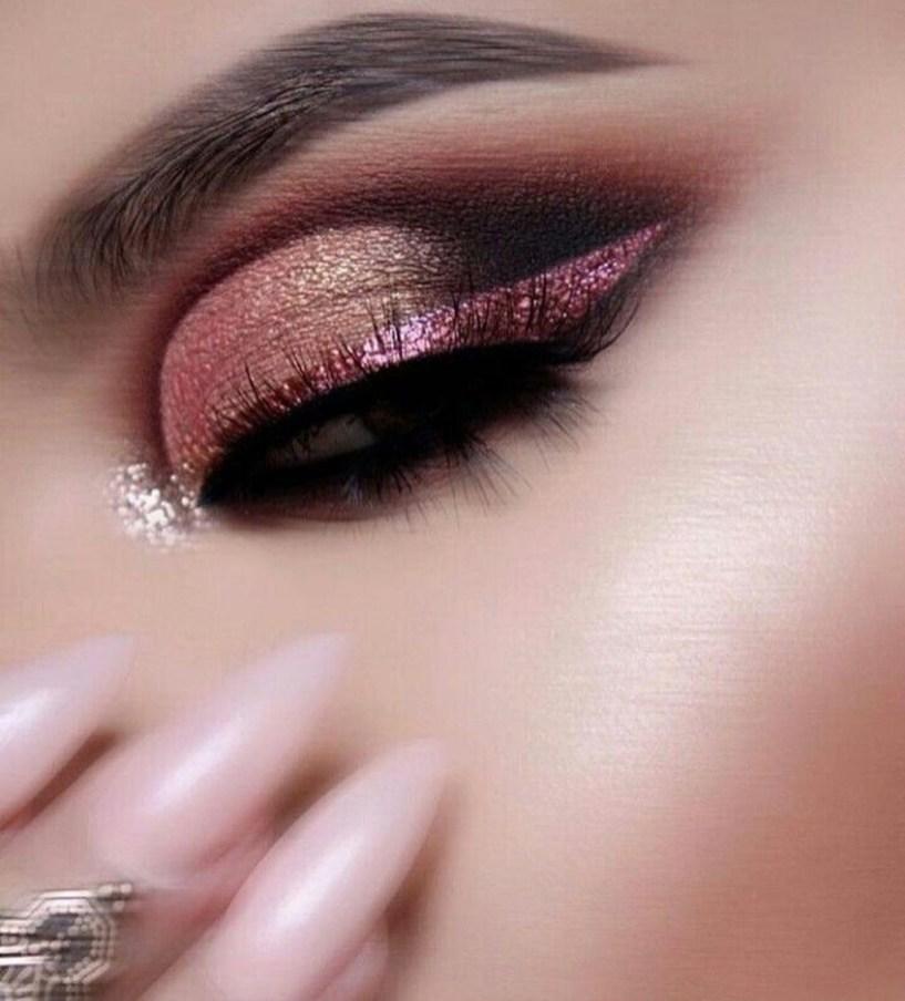 Stunning Shimmer Eye Makeup Ideas 201821