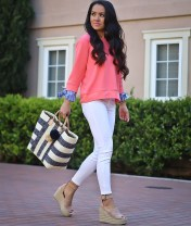 Stunning Spring Outfit Ideas With Wedges24