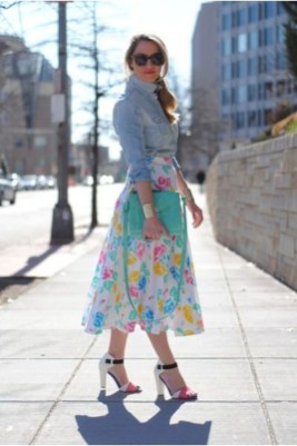 Wonderful Midi Skirt Outfit Ideas For Spring And Summer 201817