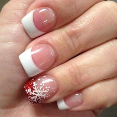 Astonishing Christmas Nail Design Ideas For Pretty Women13