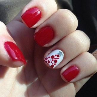Astonishing Christmas Nail Design Ideas For Pretty Women17