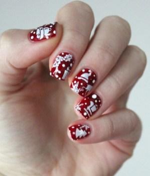 Astonishing Christmas Nail Design Ideas For Pretty Women30