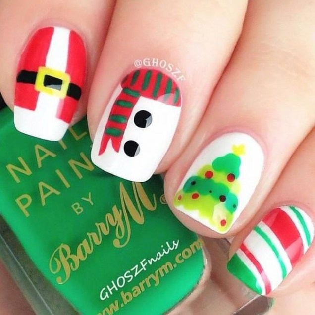 Astonishing Christmas Nail Design Ideas For Pretty Women49