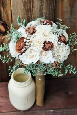 Casual Winter White Bouquet Ideas33