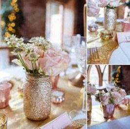 Classy Winter Wonderland Wedding Centerpieces Ideas12
