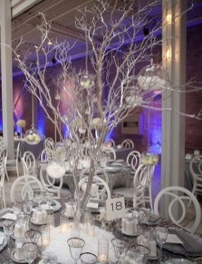 Classy Winter Wonderland Wedding Centerpieces Ideas29