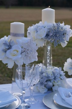 Classy Winter Wonderland Wedding Centerpieces Ideas33