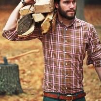Cozy Plaid Shirt Outfit Christmas Ideas For Handsome Mens18