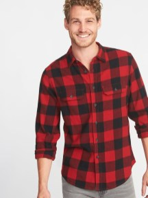 Cozy Plaid Shirt Outfit Christmas Ideas For Handsome Mens21