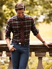 Cozy Plaid Shirt Outfit Christmas Ideas For Handsome Mens39