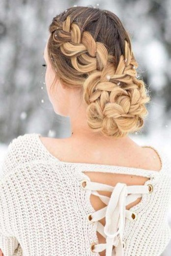 Cute Christmas Braided Hairstyles Ideas43
