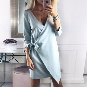 Cute Diy Wrap Mini Dress Ideas For Christmas Party19