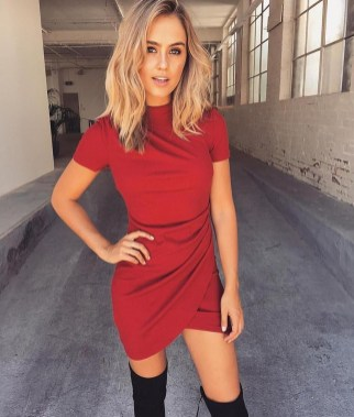Cute Diy Wrap Mini Dress Ideas For Christmas Party36