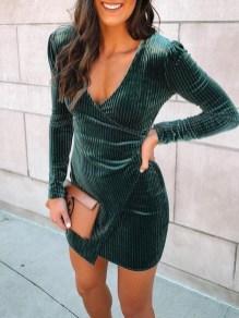 Cute Diy Wrap Mini Dress Ideas For Christmas Party38