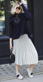 Elegant Midi Skirt Winter Ideas11
