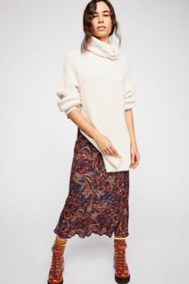 Elegant Midi Skirt Winter Ideas25