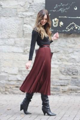 Elegant Midi Skirt Winter Ideas27