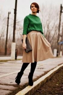 Elegant Midi Skirt Winter Ideas38