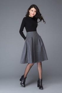 Elegant Midi Skirt Winter Ideas39