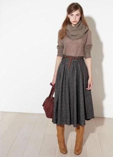 Elegant Midi Skirt Winter Ideas48