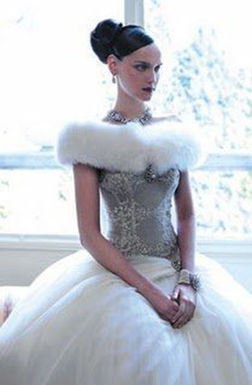 Fabulous Winter Wonderland Wedding Dresses Ideas25