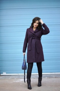 Lovely Maternity Winter Outfits Ideas36