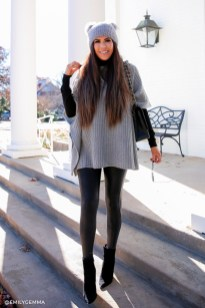 Lovely Maternity Winter Outfits Ideas37