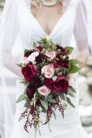 Modern Rustic Winter Wedding Flowers Ideas01