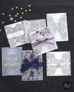 Popular Winter Wonderland Wedding Invitations Ideas07