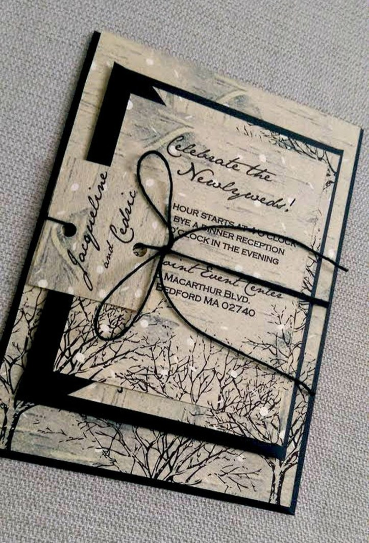 Popular Winter Wonderland Wedding Invitations Ideas09
