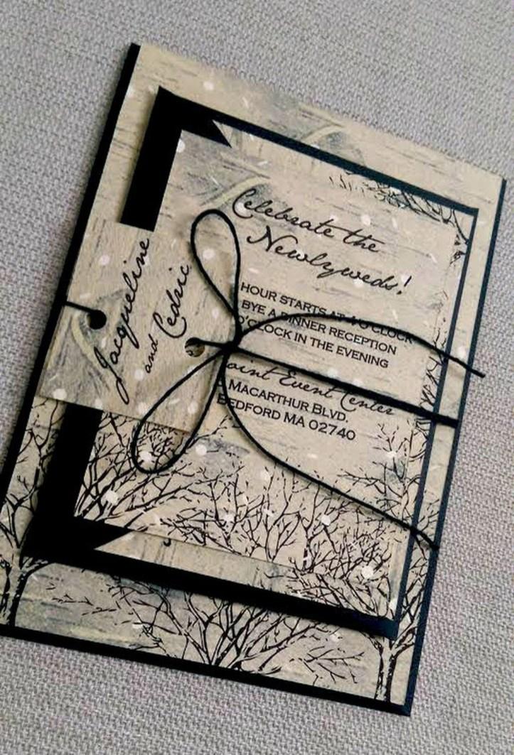 Popular Winter Wonderland Wedding Invitations Ideas09