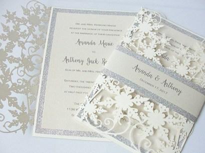 Popular Winter Wonderland Wedding Invitations Ideas12
