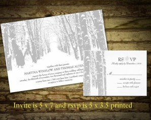 Popular Winter Wonderland Wedding Invitations Ideas32