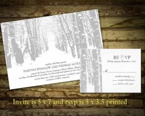 Popular Winter Wonderland Wedding Invitations Ideas32