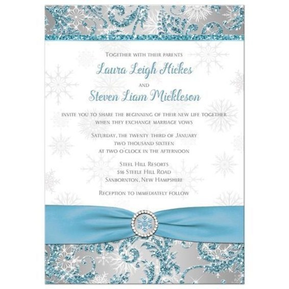 Popular Winter Wonderland Wedding Invitations Ideas40