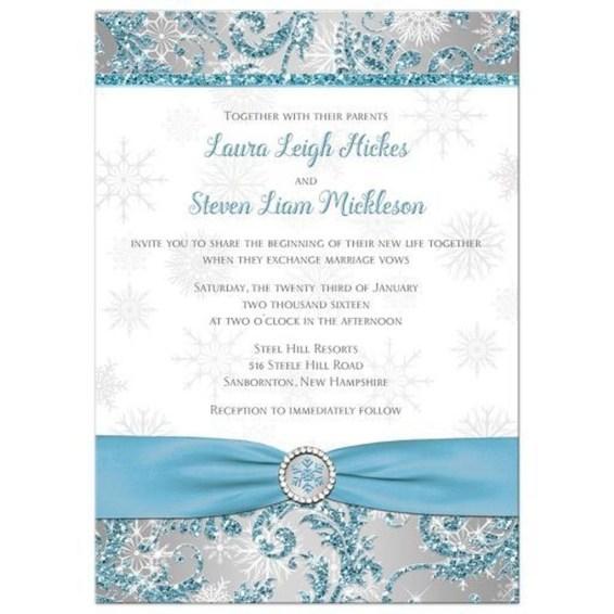 Popular Winter Wonderland Wedding Invitations Ideas40