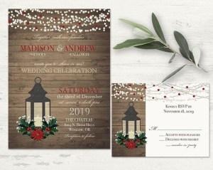 Romantic Rustic Winter Wedding Invitations Ideas02