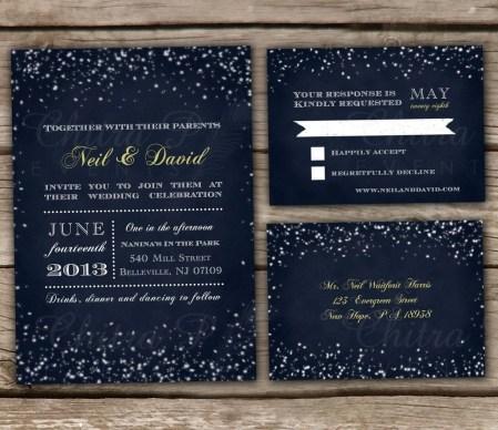 Romantic Rustic Winter Wedding Invitations Ideas08