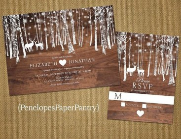 Romantic Rustic Winter Wedding Invitations Ideas09