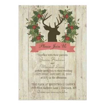 Romantic Rustic Winter Wedding Invitations Ideas10