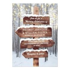 Romantic Rustic Winter Wedding Invitations Ideas21