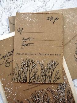 Romantic Rustic Winter Wedding Invitations Ideas26