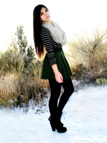 Affordable Winter Skirts Ideas With Tights03