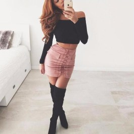 Affordable Winter Skirts Ideas With Tights32