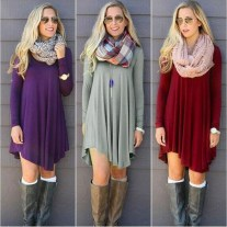 Amazing Winter Dresses Ideas With Boots01